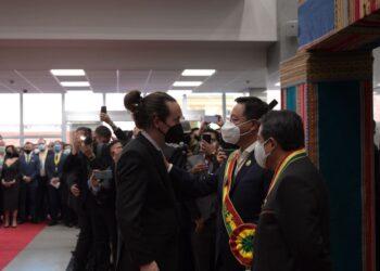 Lucho Arce, Pablo Iglesias y Alberto Fernández impulsan en Bolivia un documento «en defensa de la democracia» y contra el golpismo