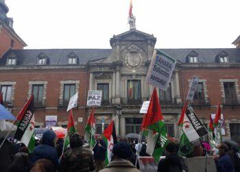 Concentración en solidaridad con el Sahara Occidental en Madrid