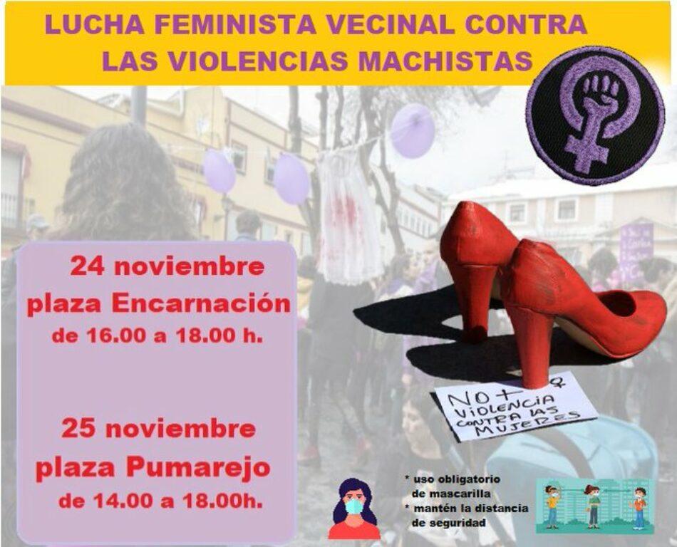Asamblea Feminista Unitaria de Sevilla: Programa de Actividades, 25N de 2020