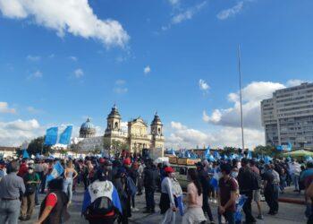Continúan las protestas contra el gobierno de Giammattei en Guatemala