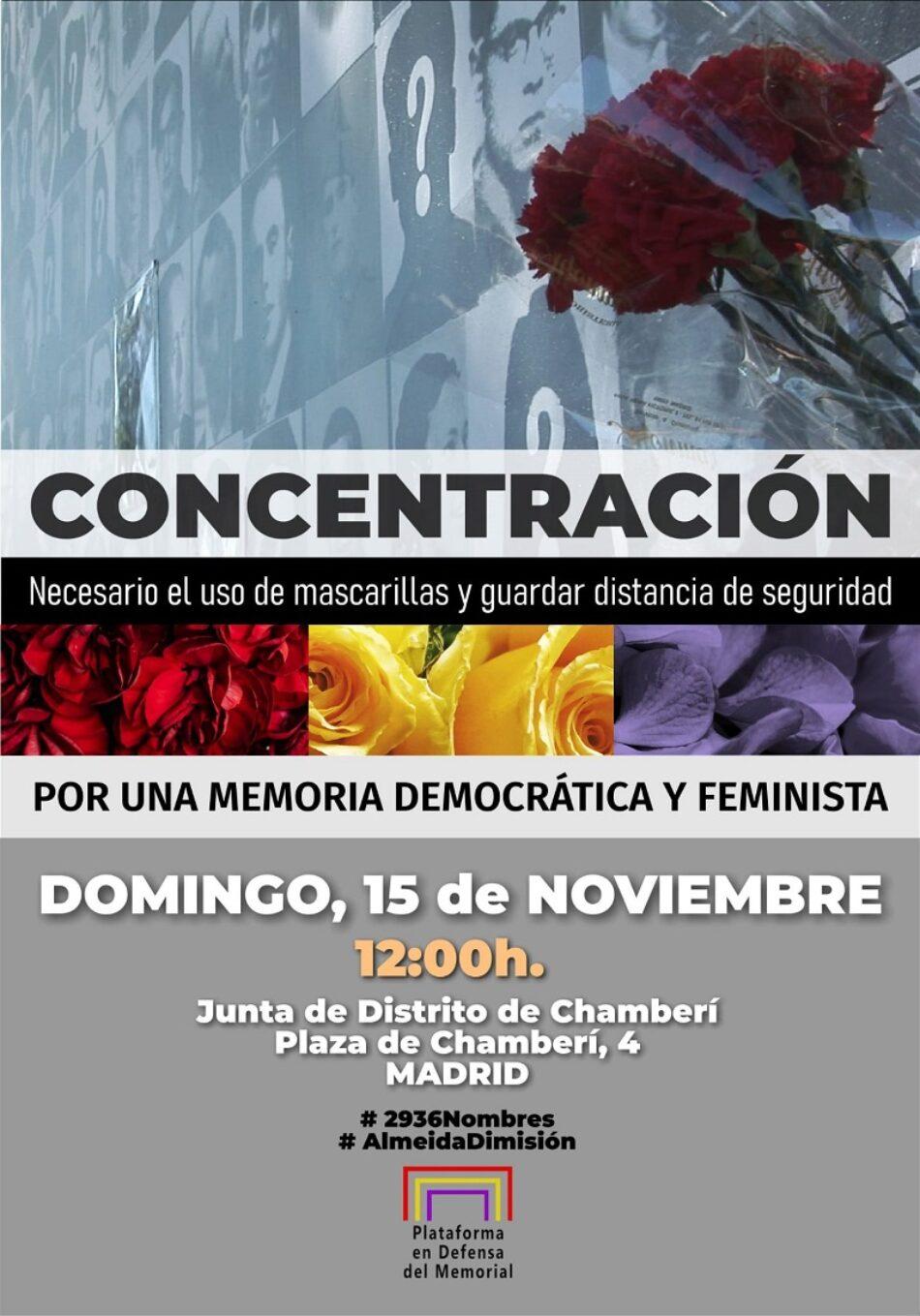 La Plataforma en Defensa del Memorial convoca concentración por una «Memoria Democrática y Feminista en el Ayuntamiento de Madrid»