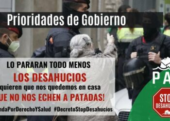 Coordinadora de Vivienda, 15M-PAH y Sindicato de Inquilinas de Madrid: «¡Ni un desahucio más!»