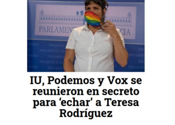 Desmentido nuevo bulo: «IU, Podemos y Vox se reunieron en secreto para 'echar' a Teresa Rodríguez»