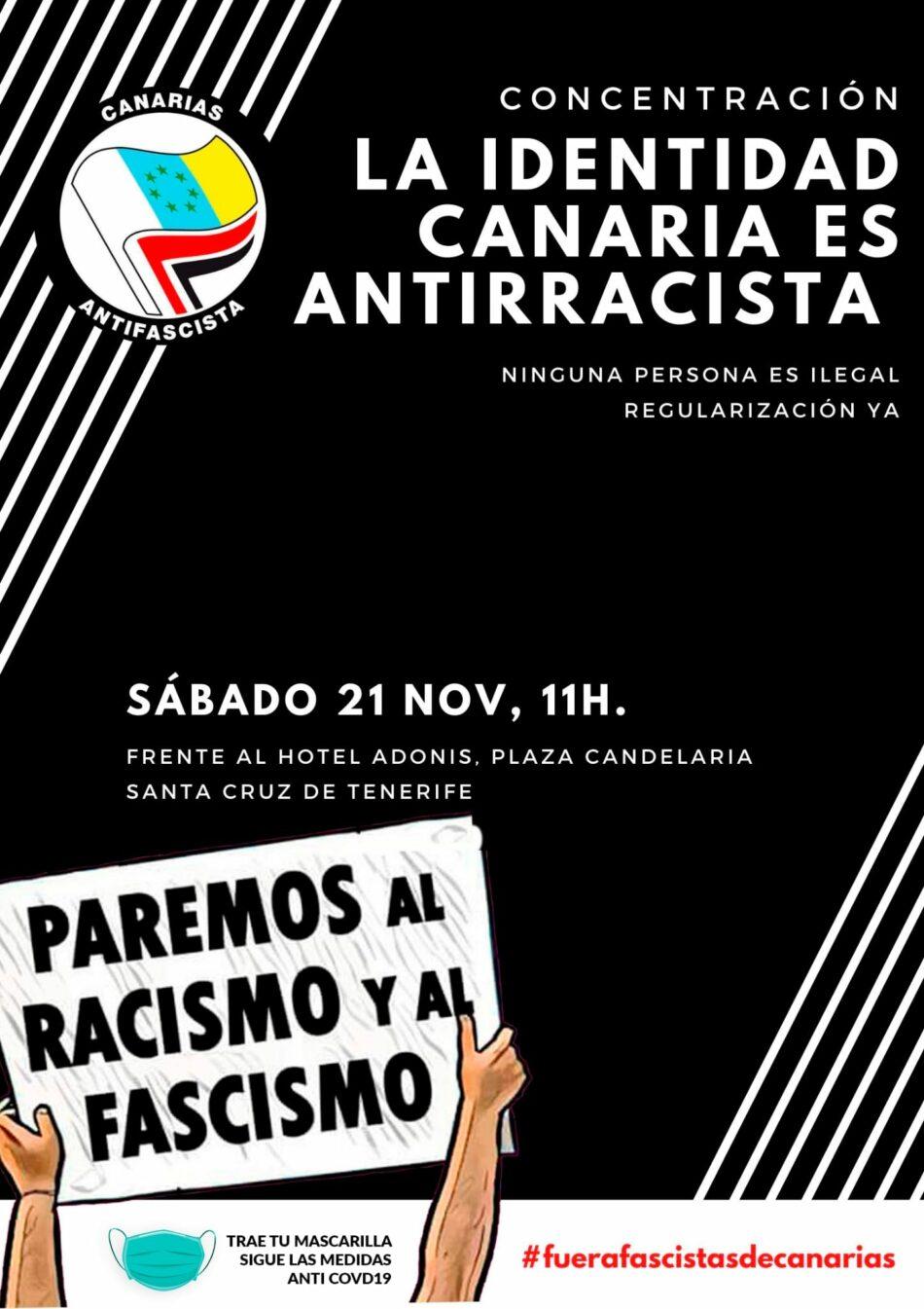 189 Organizaciones, colectivos y grupos de las siete Islas Canarias y de otros territorios del Estado, contra la manifestación racista del 21 de noviembre