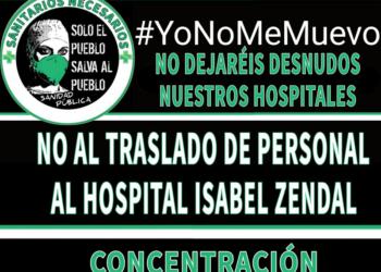 10-N: Concentración en rechazo a la «política destructiva sobre la Sanidad Pública madrileña» y contra el traslado de personal al hospital Isabel Zendal