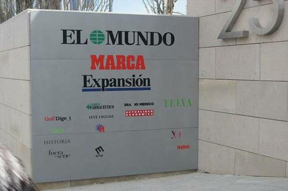 Diario El Mundo anuncia un ERE en todas sus delegaciones
