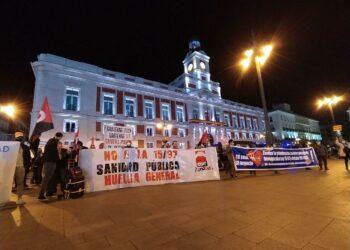 Reivindicaciones en la Huelga General en la Comunidad de Madrid, convocada por CGT para el día 11 de noviembre