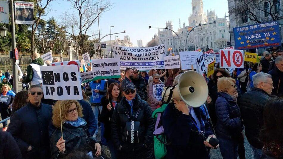 El Senado aprueba sin PSOE, PNV ni PAR la moción de Compromís que proponía soluciones exprés a la situación de miles de interinos en fraude de ley