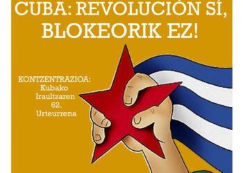 """Bilbao, 1 de Enero, barco y concentración: """"No al Bloqueo y la Injerencia, Sí a la Revolución Cubana"""""""