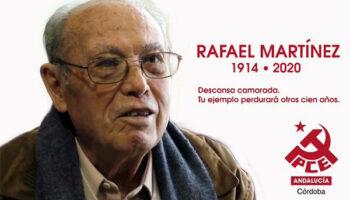 Muere a los 106 años Rafael Martínez, el militante más longevo del PCE