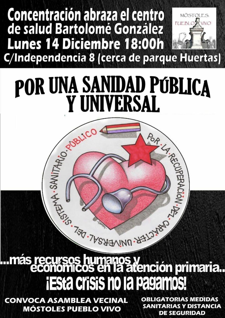 Móstoles, Pueblo Vivo llama a concentrarse frente al ambulatorio Bartolomé González para defender la sanidad pública
