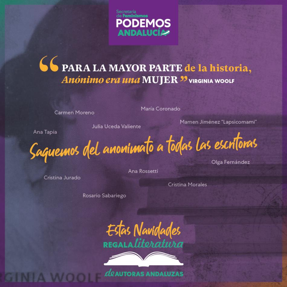 Podemos Andalucía lanza una campaña de apoyo a las escritoras andaluzas