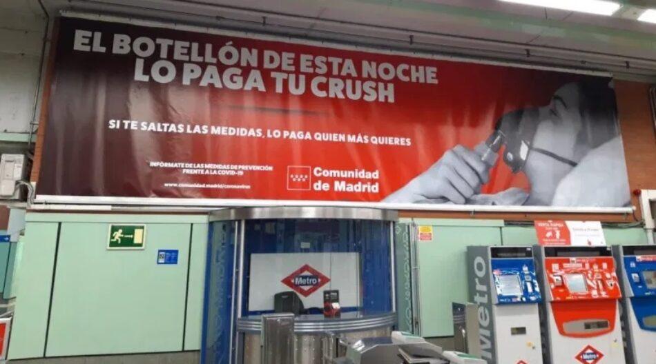 Jóvenes IU denuncia que Ayuso vuelve a criminalizar a la juventud madrileña