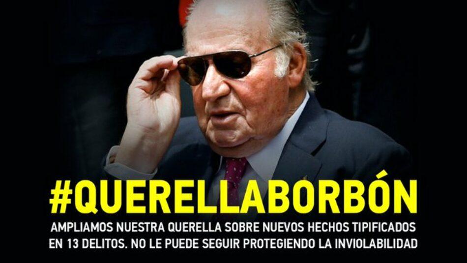 IU y el PCE amplían su querella en el Supremo tras la regularización fiscal de Juan Carlos de Borbón para que se investiguen todos los nuevos casos que protagonizó