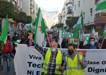 Trabajadores del campo y migrantes en El Ejido se manifiestan en contra de la explotación y el maltrato a los jornaleros y envasadoras