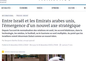 Israel y los Emiratos Árabes trabajan juntos para eliminar la UNRWA y el derecho al Retorno de los refugiados palestinos