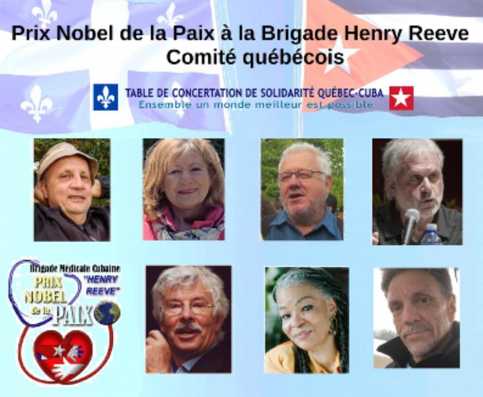 Comité Noruego del Premio Nobel de la Paz confirmó que aceptó la candidatura de la Brigada Médica Cubana Henry Reeve
