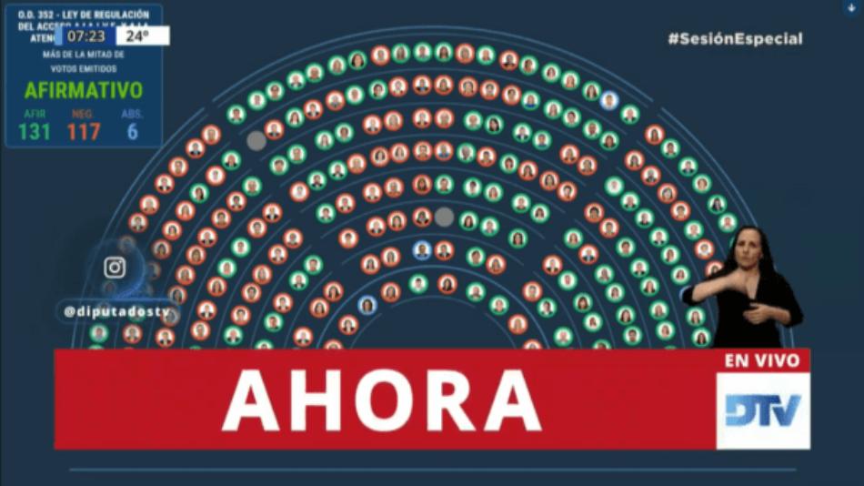 Cámara de Diputados de Argentina aprueba despenalizar interrupción de embarazo