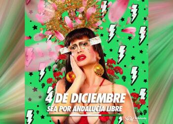 Podemos e IU Andalucía marcan distancias del polémico cartel del 4D de Adelante Andalucía