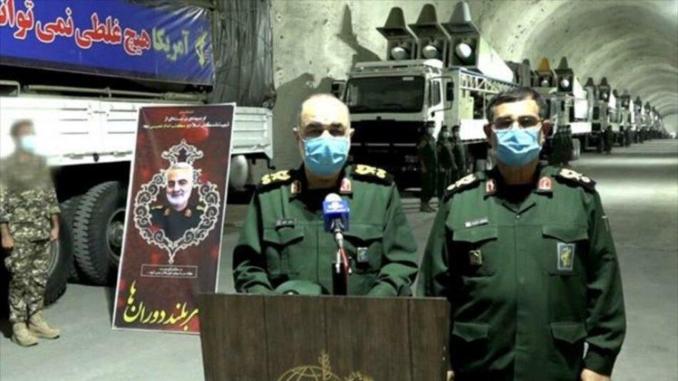 Irán desvela base subterránea de misiles en Golfo Pérsico