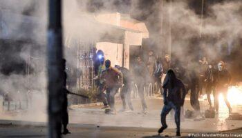Protestas y represión en Túnez 10 años después del inicio de las primaveras árabes
