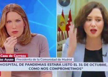 Vanessa Lillo pregunta a la presidenta Ayuso por qué se niega a aparecer en Telemadrid durante el temporal Filomena