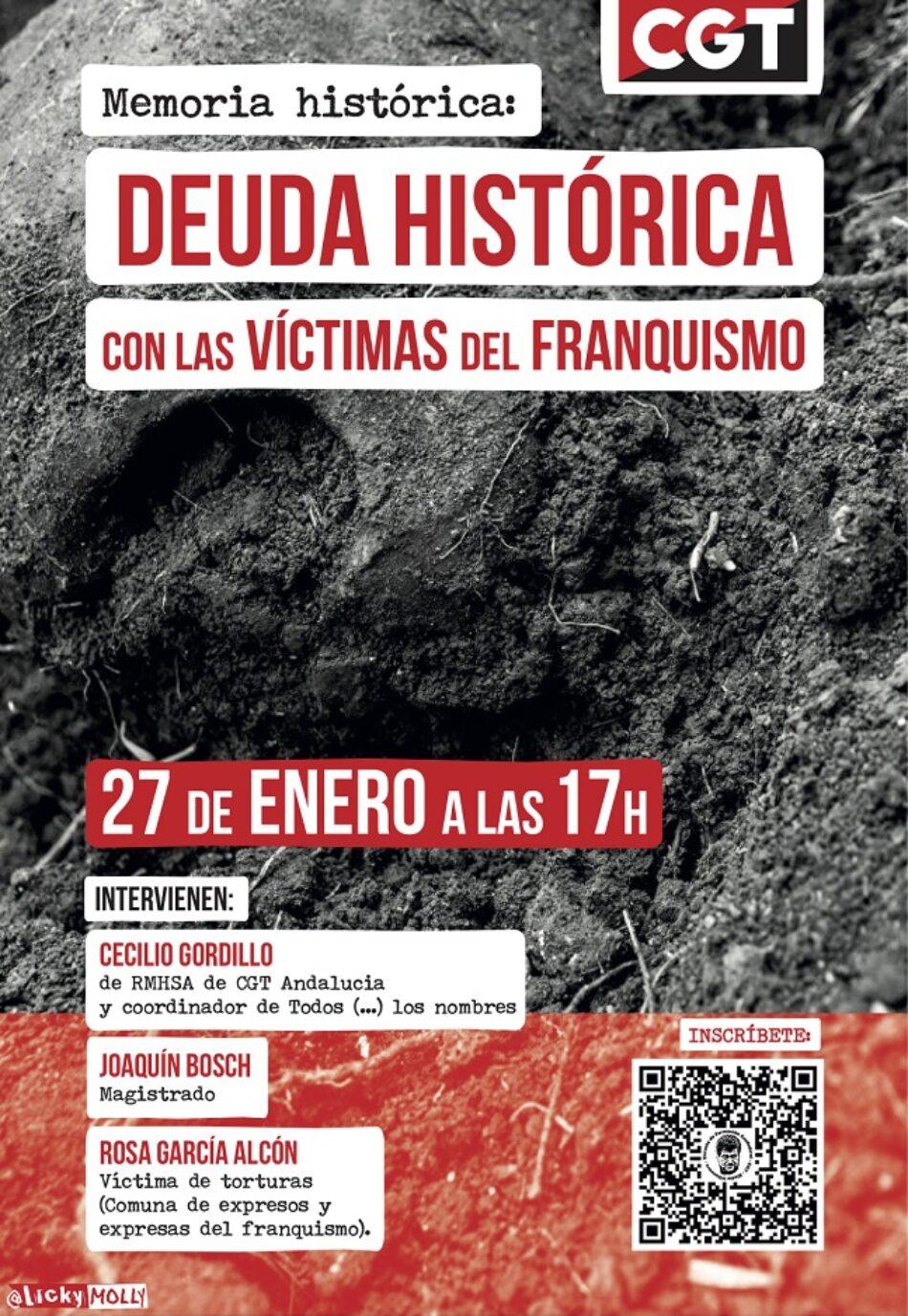 Curso sobre «Memoria Histórica: Deuda histórica con las víctimas del Franquismo»