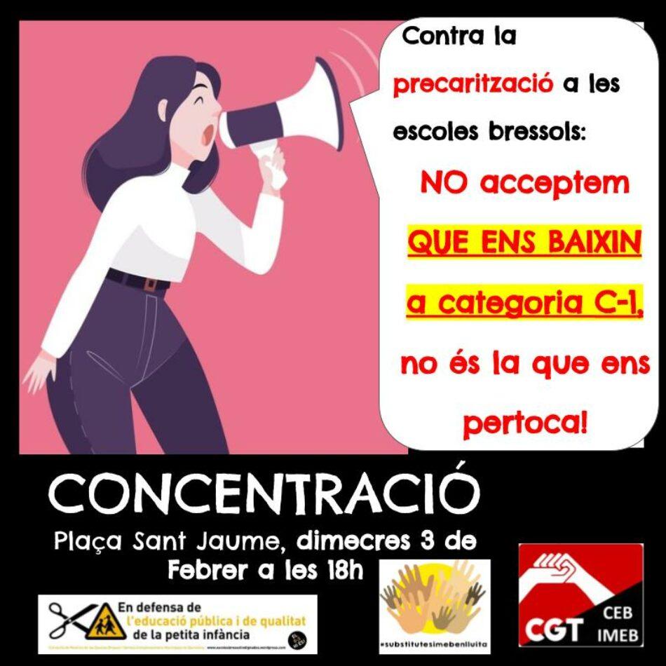Volem fer pública la situació inadmissible que estan a punt de patir les educadores bressol de l'Ajuntament de Barcelona