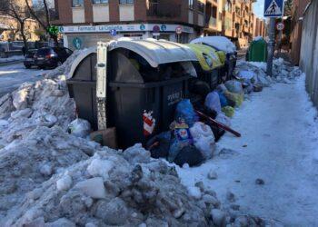 Unidas por las Rozas exige sanciones a Urbaser por las deficiencias en la recogida de basuras y limpieza de calles durante la nevada