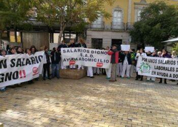 Las trabajadoras de ayuda a domicilio de Almería en lucha