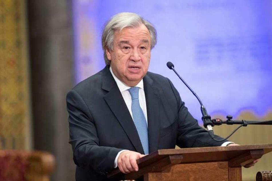 Titular de ONU destaca que son necesarias vacunas para todos
