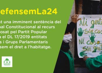 «¡Defendemos la Ley 24/2015! Exigimos al PSOE que la blinde urgentemente con un acuerdo bilateral Estado-Generalitat, antes de que el Tribunal Constitucional emita sentencia»