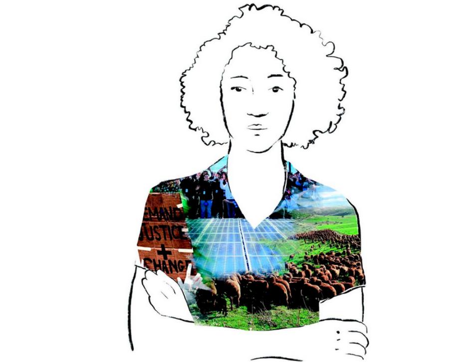 Mujeres ganaderas, portada de la revista «Ecologista» de invierno