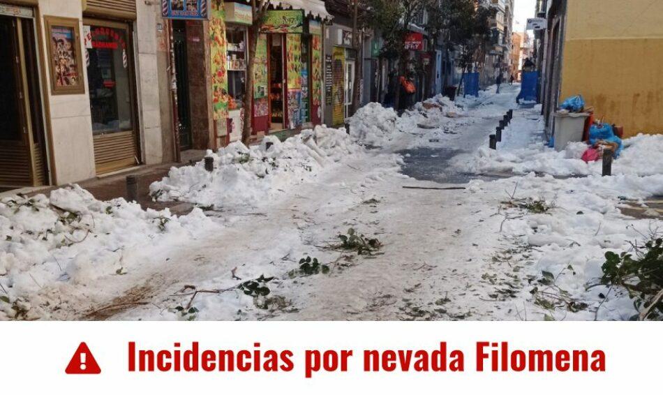 La FRAVM crea un mapa de incidencias no resueltas de la gran nevada