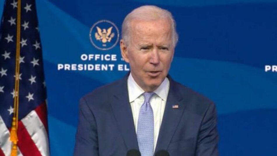 Joe Biden anuncia plan de estímulo económico para EE.UU.