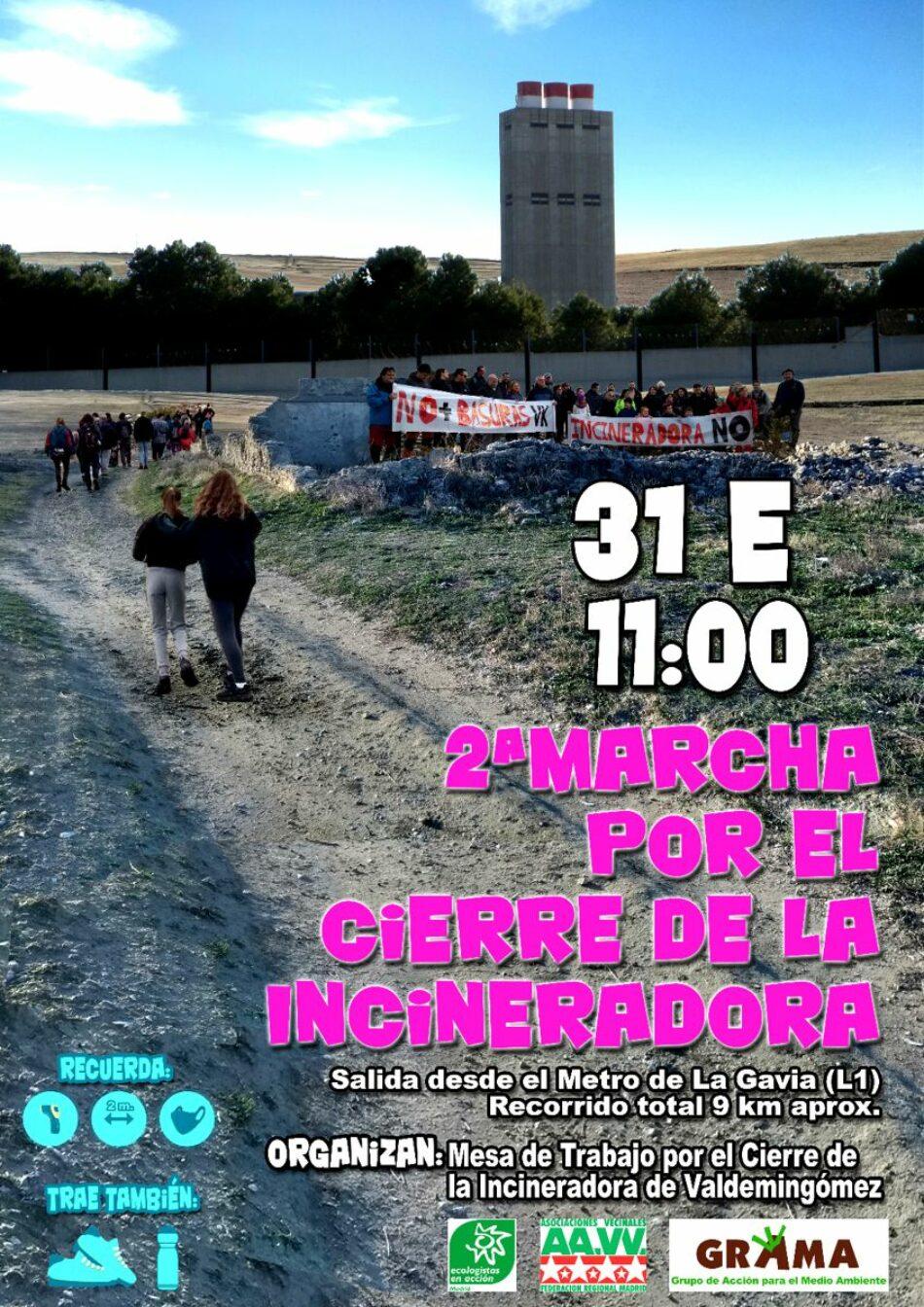 9 kilómetros de marcha para pedir el cierre de la incineradora de Valdemingómez