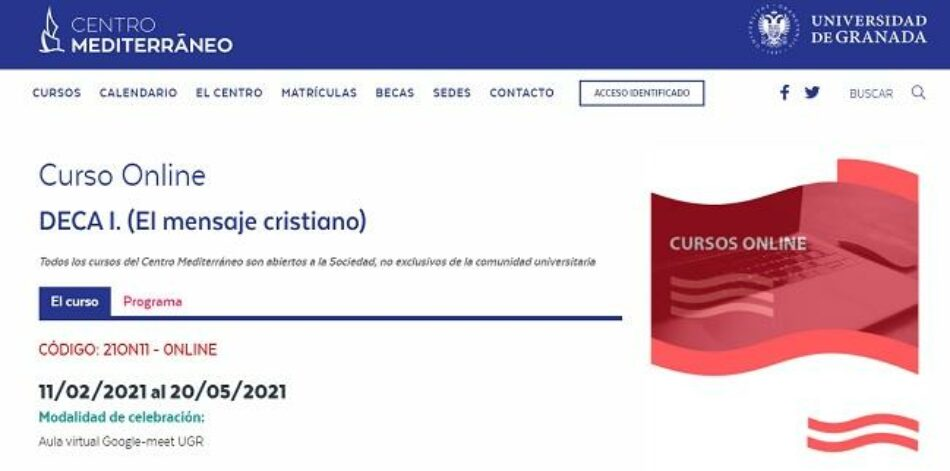 UNI Laica denuncia los cursos de religión católica del Centro Mediterráneo de la Universidad de Granada