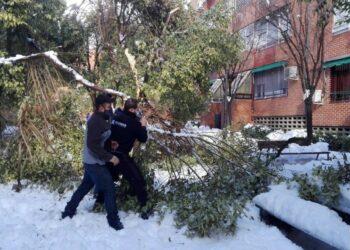 Las asociaciones vecinales de Usera (Madrid) reclaman un plan especial de inversiones para hacer frente a los estragos de la nevada