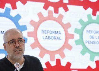 """Unai Sordo: """"Hay que seguir movilizándose: No se va a derogar la reforma laboral, ni van a aumentar las pensiones y el SMI, si no nos movemos"""""""