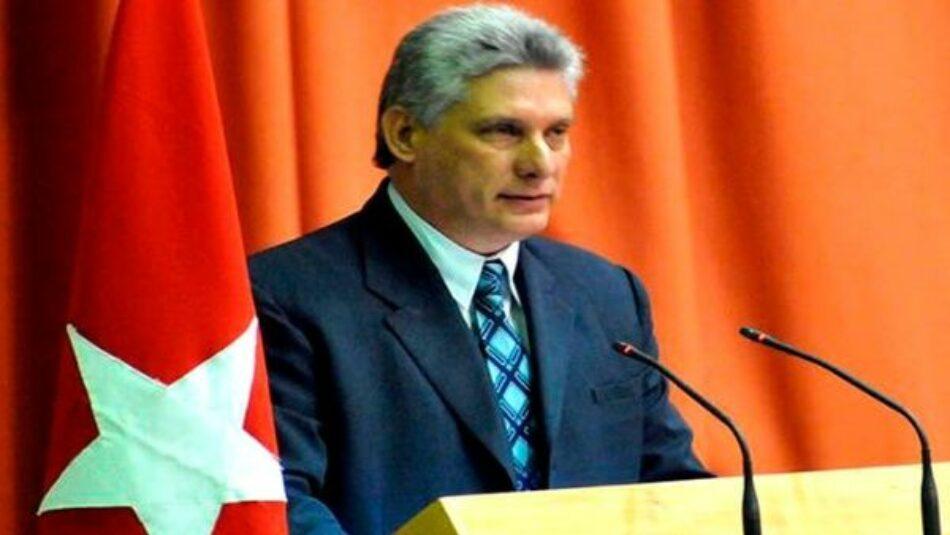 Presidente Díaz-Canel condena ataques instituciones cubanas