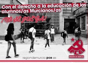 El Partido Comunista de la Región de Murcia pide la dimisión de la Consejera de Educación Esperanza Moreno