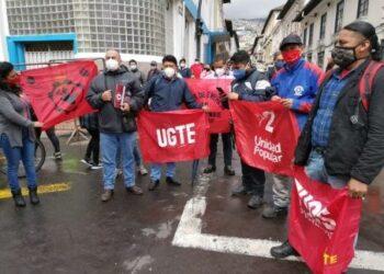 Sindicatos de Ecuador convocan a marcha para finales de enero
