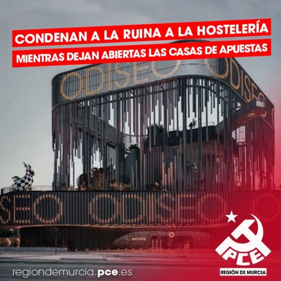 El Partido Comunista denuncia la incoherencia del gobierno regional ante las nuevas restricciones en la Región de Murcia