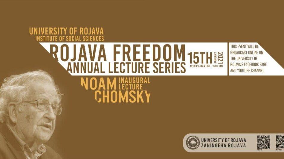 Noam Chomsky inaugurará el Ciclo de Conferencias Anual Libertad para Rojava