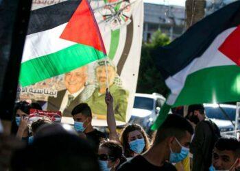 Protestas en Ramala por la construcción de nuevos asentamientos israelíes