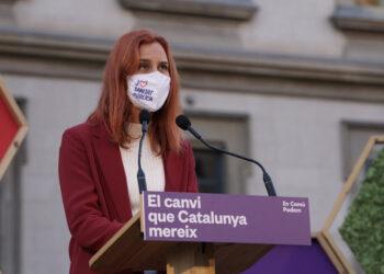 Jéssica Albiach: «En democràcia, el poder i els vots són de la ciutadania, i no de cap partit, es digui com es digui, Convergència, PdeCat o Junts per Catalunya»