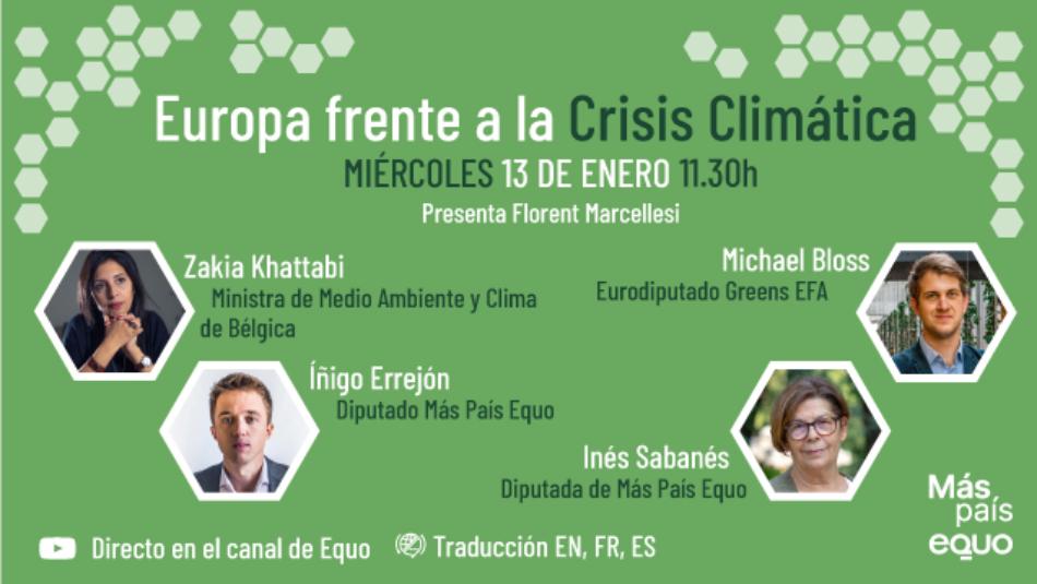 Webinar Europa frente a la crisis climatica