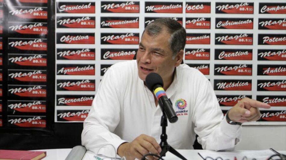 Correa denuncia nuevo intento de suspender elecciones en Ecuador