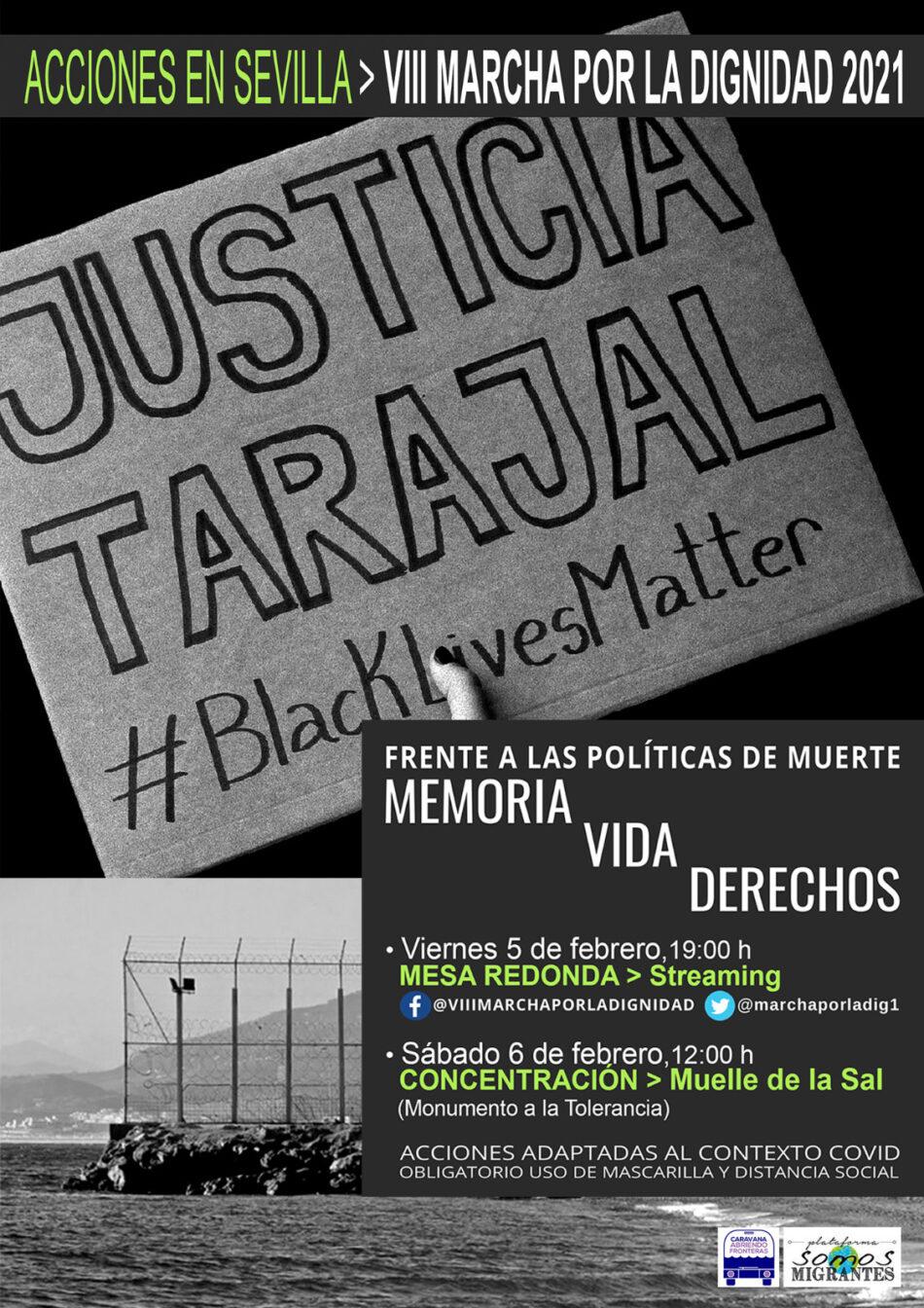 VIII Marcha por la Dignidad en Sevilla el 6 de febrero: «Tarajal, no olvidamos»