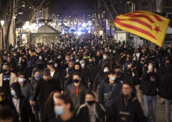 14 detenidos en Barcelona tras las protestas contra el encarcelamiento de Hasel